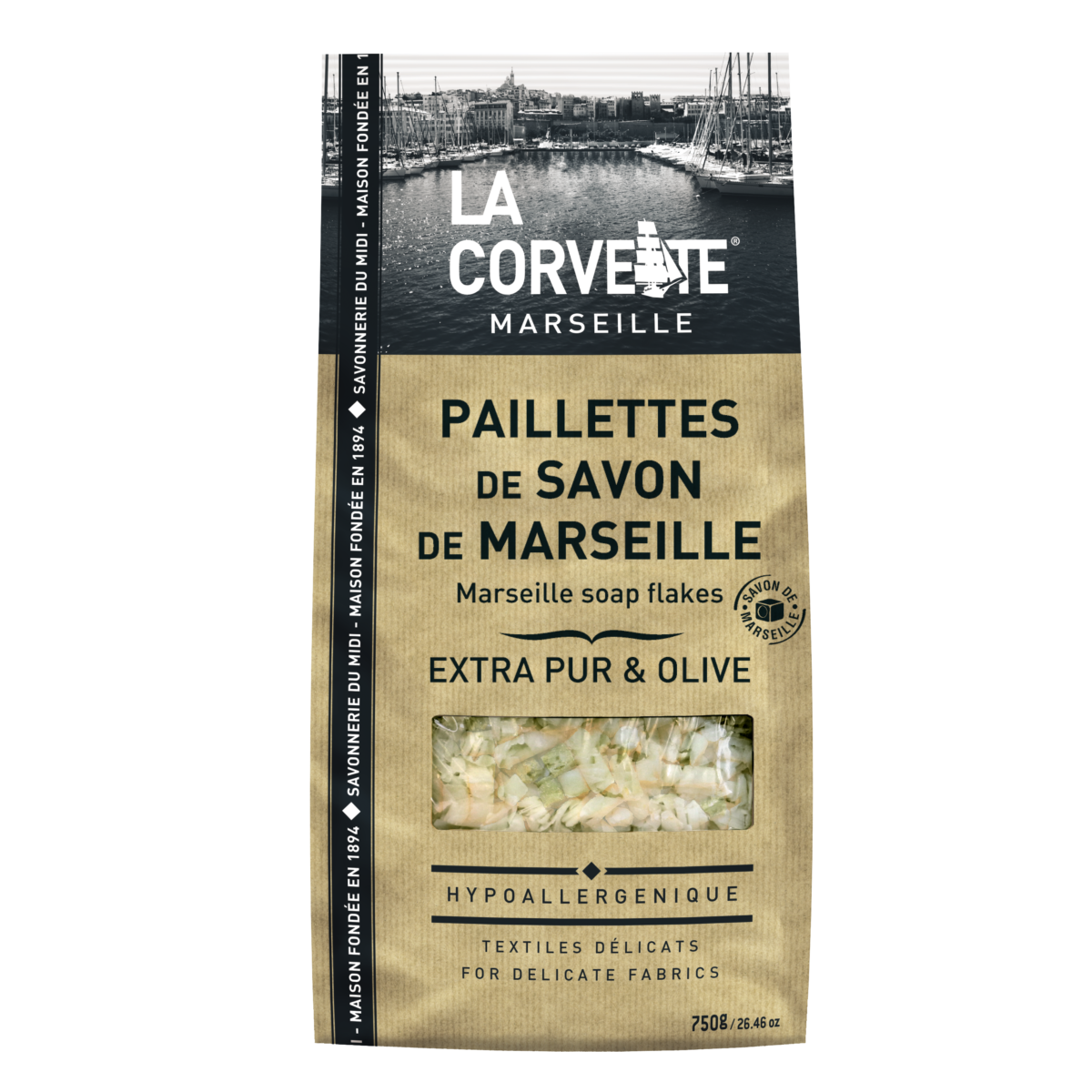 Savon de Marseille en paillettes